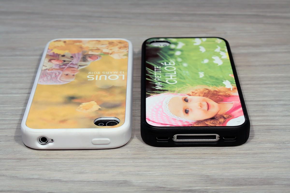 coque iphone 4 4s personnalis e avec c t s silicones unis. Black Bedroom Furniture Sets. Home Design Ideas