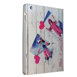 Etui iPad 2 et 3 personnalisé à clapet en cuir