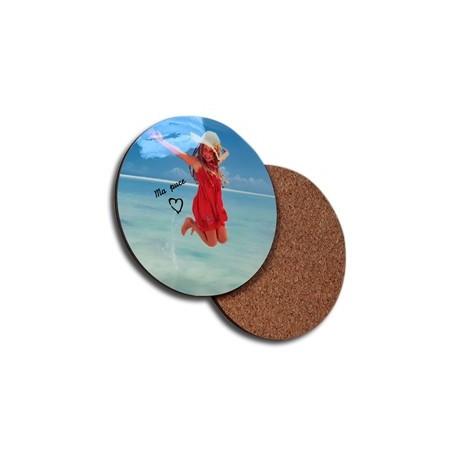Round custom cork coasters