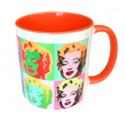 Personalized orange photo mug lanoline