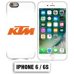 Coque iphone 6 6S moto KTM orange