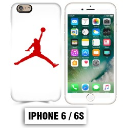 Coque iphone 6 6S air Jordan basket 23 rouge