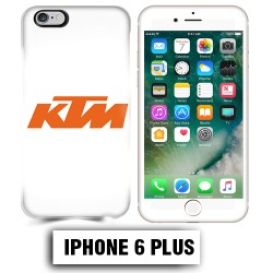 Coque iphone 6 PLUS moto KTM orange