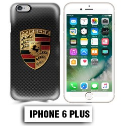Coque iphone 6 PLUS logo Porsche carbonne Carrera