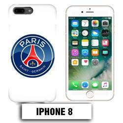 Coque iphone 8 Foot PSG logo club Paris