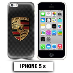 Coque iphone 5 5S logo Porsche carbonne Carrera