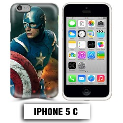Coque iphone 5C Captain Super America Comics