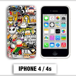 Coque iphone 4 South Park Superman Comics