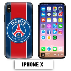 Coque iphone X Foot PSG logo club