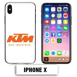 Coque iphone X KTM orange