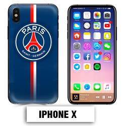 Coque iphone X PSG foot
