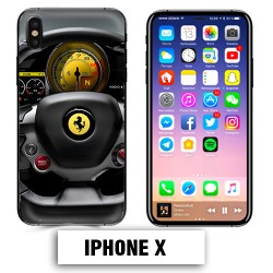 Coque iphone X volant Ferrari 458 488