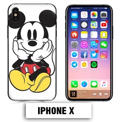 Coque iphone X Mickey Mouse couleur