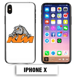 Coque iphone X moto cross KTM Bulldog