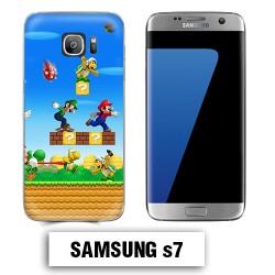 Coque Samsung S7 Mario Bross jeu