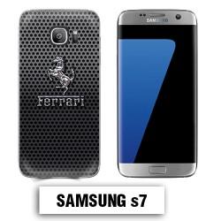 Coque Samsung S7 logo Ferrari effet métal
