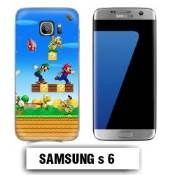 Coque Samsung S6 Mario Bross jeu