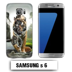 Coque Samsung S6 animal tigre robot