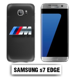 Coque Samsung S7 edge BMW Carbone