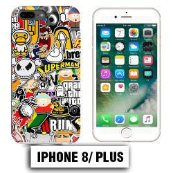 Coque iphone 8 PLUS Superman cartons