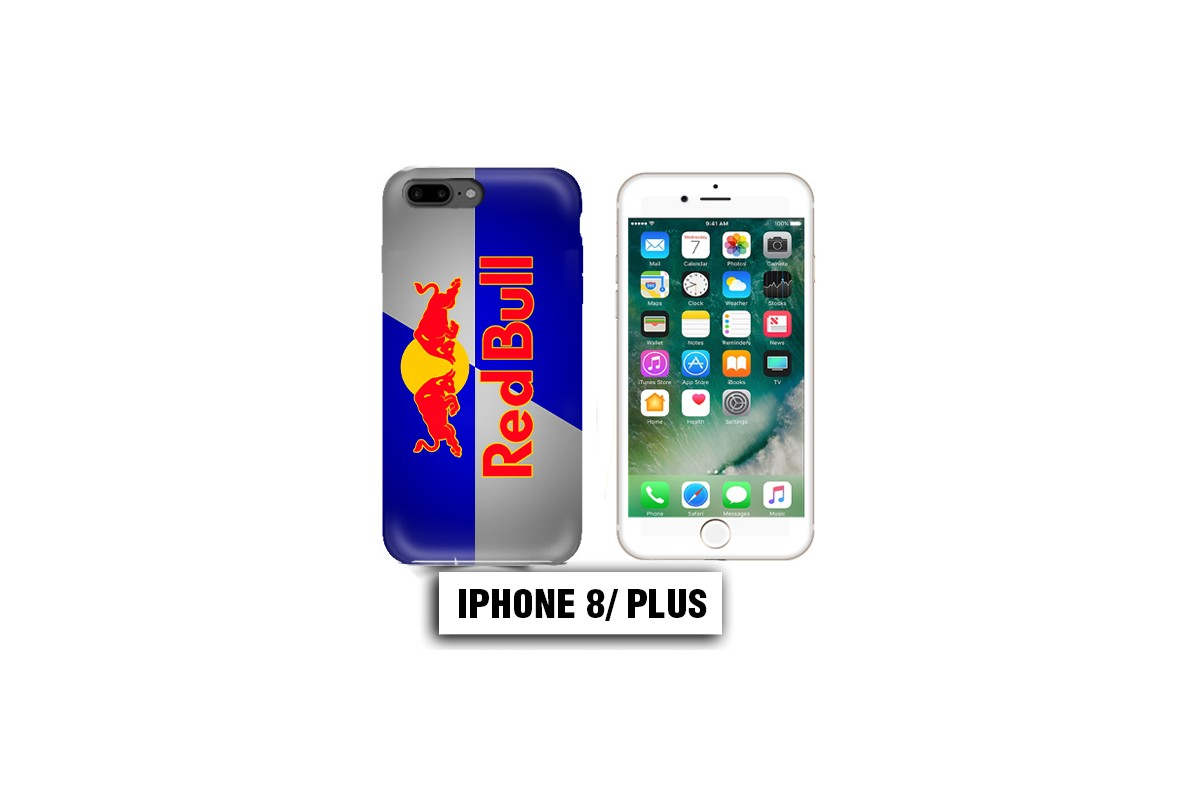 coque iphone 8 plus red bull