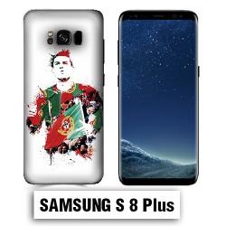 Coque Samsung S8 Plus Foot Ronaldo Madrid CR7