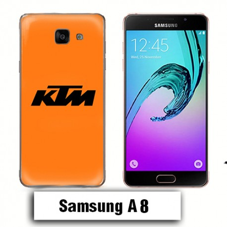 Coque Samsung A8 KTM Orange