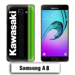 Coque Samsung A8 logo Kawasaki