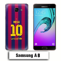 Coque Samsung A8 Messi Barcelone