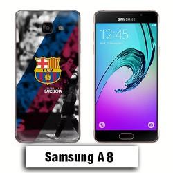 Coque Samsung A8 Barcelone Club Foot FCB