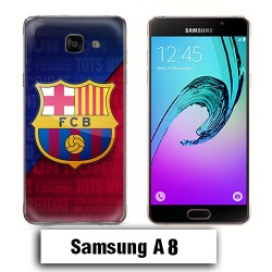 Coque Samsung A8 Logo Barcelone FCB