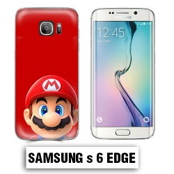 Coque Samsung S6 Edge Mario Bross Rouge