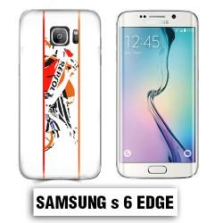 Coque Samsung S6 Edge moto course Repsol