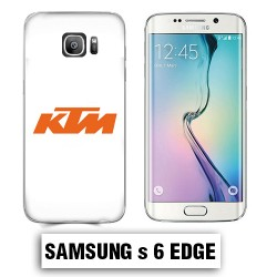 Coque Samsung S6 Edge Logo KTM Blanc