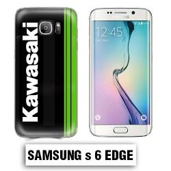 Coque Samsung S6 Edge Moto Kawasaki