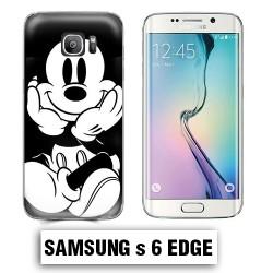 Coque Samsung S6 Edge Mickey Noire et Blanc