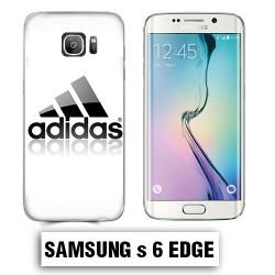 Coque Samsung S6 Edge Logo Adidas Blanc