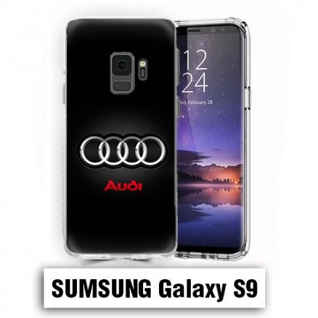Coque Samsung S9 Logo Audi Noire
