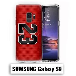 Coque Samsung S9 logo Air Jordan 23 Rouge