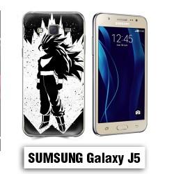 Coque Samsung J5 2016 Vegeta Super Sayen Noire et Blanc