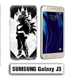 Coque Samsung J3 2016 Vegeta Super Sayen Noire et Blanc