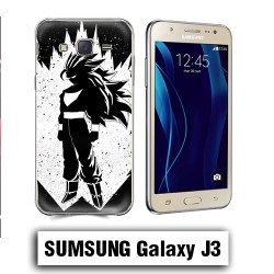 Coque Samsung J3 Vegeta Super Sayen Noire et Blanc