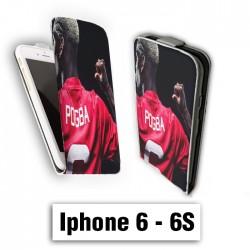 Etui cuir à rabat vertical Iphone 6 6S logo Pogba