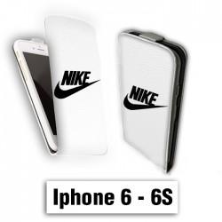Etui cuir à rabat vertical Iphone 6 6S logo Nike