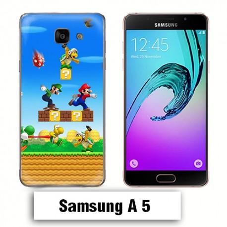 Coque Samsung A5 Mario Bross jeu