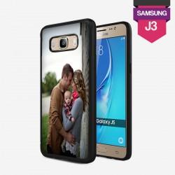 Coque Galaxy J3 personnalisée avec côtés rigides unis