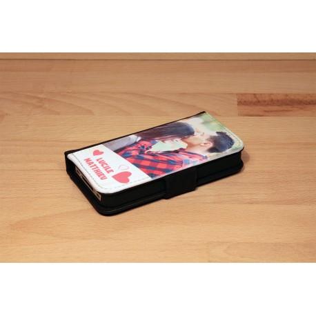 Etui iPhone X XS personnalisé à clapet simple horizontal