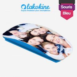 Souris sans fil personnalisable bleue lakokine