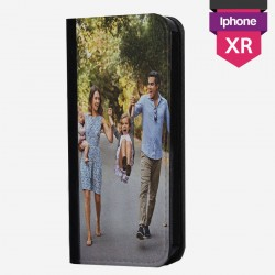 Custom iPhone XR case with horizontal single flap