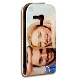 Etui Galaxy S3 mini personnalisé à clapet en cuir